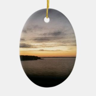 Ornamento De Cerâmica Por do sol de Texoma do lago