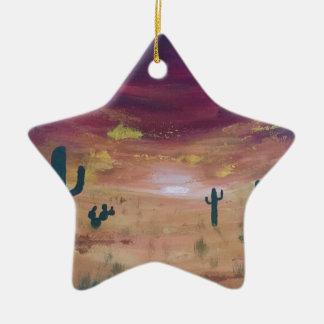 Ornamento De Cerâmica Por do sol do deserto