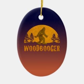 Ornamento De Cerâmica Por do sol do vintage de Woodbooger