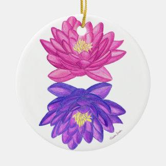 Ornamento De Cerâmica Por do sol Lotus do nascer do sol