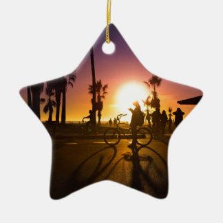 Ornamento De Cerâmica por do sol Veneza