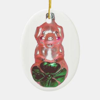 Ornamento De Cerâmica Porco afortunado