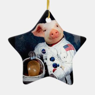 Ornamento De Cerâmica Porco do astronauta - astronauta do espaço