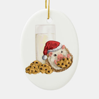 Ornamento De Cerâmica Porco do biscoito do Natal