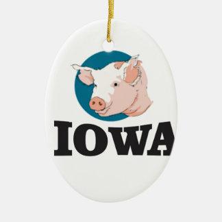 Ornamento De Cerâmica porcos de iowa