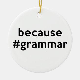 Ornamento De Cerâmica Porque gramática