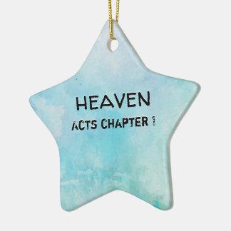 Ornamento De Cerâmica Porque suporte YE que olha acima no céu