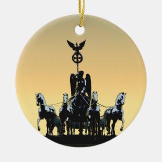 Ornamento De Cerâmica Porta de Brandemburgo 002,1 rd do Quadriga de
