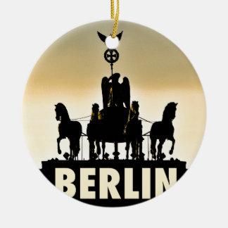 Ornamento De Cerâmica Porta de Brandemburgo do Quadriga 002,1 de BERLIM