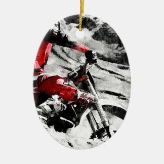 Ornamento De Cerâmica Possuindo a montanha - piloto da Sujeira-Bicicleta