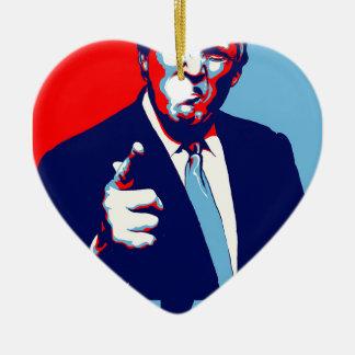 """Ornamento De Cerâmica Poster 2017 da paródia do """"medo"""" de Donald Trump"""