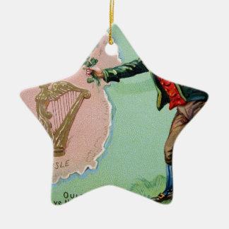 Ornamento De Cerâmica Poster da ilha dos erin do dia de Patrick de santo