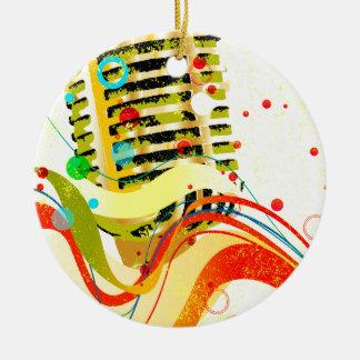Ornamento De Cerâmica Poster do microfone do jazz