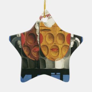 Ornamento De Cerâmica poster francês original 1929 do art deco da