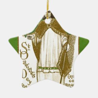 Ornamento De Cerâmica Poster velho bonito de patrick de santo