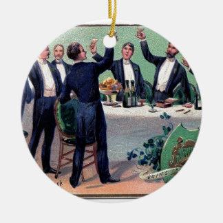 Ornamento De Cerâmica Poster vintage original da bebida do dia de