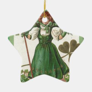 Ornamento De Cerâmica Poster vintage original da senhora do dia de