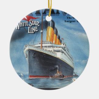 Ornamento De Cerâmica Poster vintage titânico original 1912