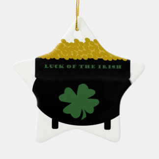 Ornamento De Cerâmica Pote de ouro