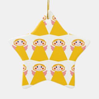 Ornamento De Cerâmica Pouco design dos anjos do ouro