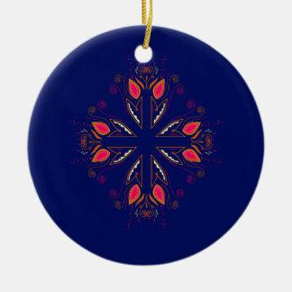 Ornamento De Cerâmica POVOS do azul dos elementos do design