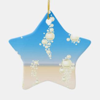Ornamento De Cerâmica Praia com bolhas