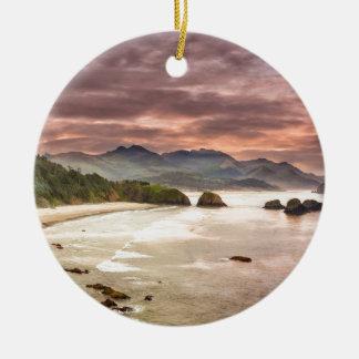 Ornamento De Cerâmica Praia crescente do parque estadual de Ecola