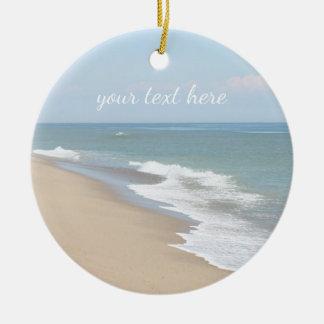 Ornamento De Cerâmica Praia e ondas do oceano