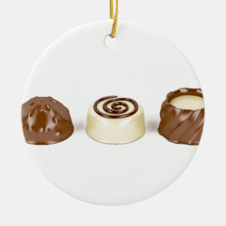 Ornamento De Cerâmica Pralines do chocolate