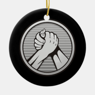 Ornamento De Cerâmica Prata da luta de braço
