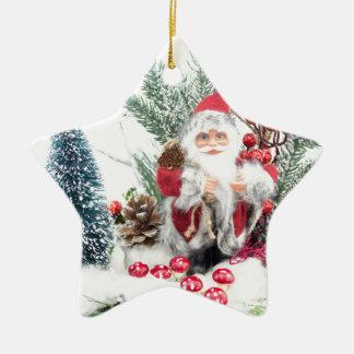 Ornamento De Cerâmica Prato do Natal com Papai Noel e decoração