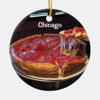 Ornamento De Cerâmica Prato profundo do estilo de Chicago