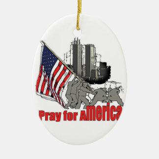 Ornamento De Cerâmica Pray para América