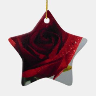 Ornamento De Cerâmica Prazer da rosa vermelha