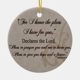 Ornamento De Cerâmica Presente da escritura do 29:11 de Jeremiah