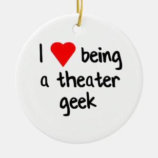 Ornamento De Cerâmica Presente do geek do teatro/nerd do drama