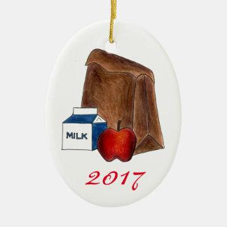 Ornamento De Cerâmica Presente favorito do professor de Apple do leite
