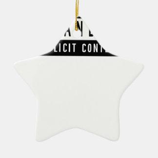 Ornamento De Cerâmica Presente perfeito do melhor t-shirt engraçado do