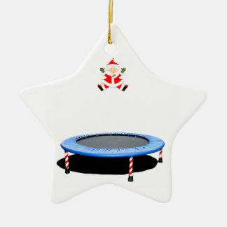 Ornamento De Cerâmica presente personalizado do Natal do trampolim