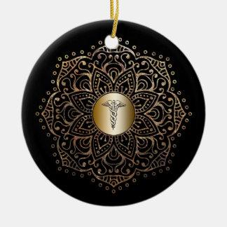 Ornamento De Cerâmica Presente RN LPN da enfermeira que nutre o ouro