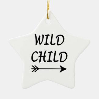 Ornamento De Cerâmica Presente selvagem da criança