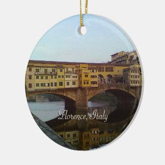 Ornamento De Cerâmica Presente velho de Florença Italia da ponte de