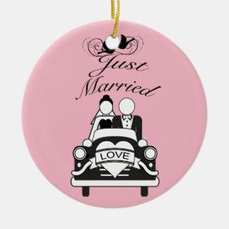 Ornamento De Cerâmica Presente Wedding personalizado recem casados do