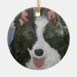 Ornamento De Cerâmica Presentes de border collie