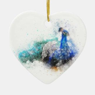 Ornamento De Cerâmica Presentes do pavão