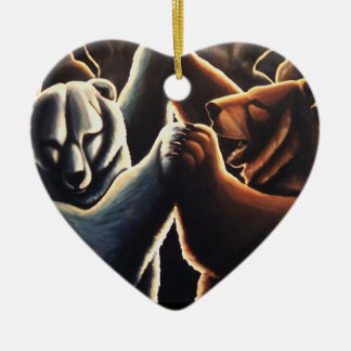 Ornamento De Cerâmica Presentes multiculturais de dança do amor do