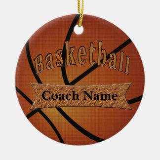 Ornamento De Cerâmica Presentes para ideias do treinador de beisebol