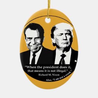 Ornamento De Cerâmica Presidente nao ilegal