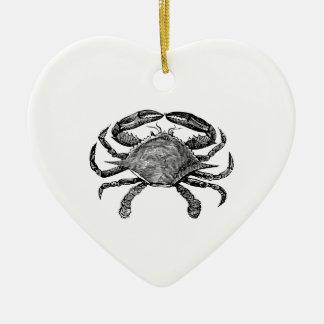 Ornamento De Cerâmica Preto Crabby de sentimento