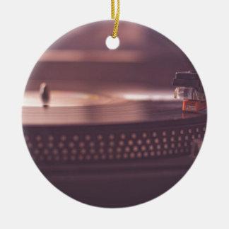 Ornamento De Cerâmica Preto do equipamento do vinil do registro da